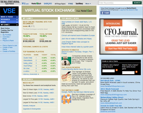 Virtual trading stock options amerika